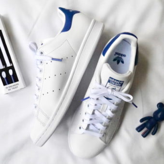 lacets stan smith bleu