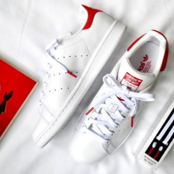 lacets stan smith rouge
