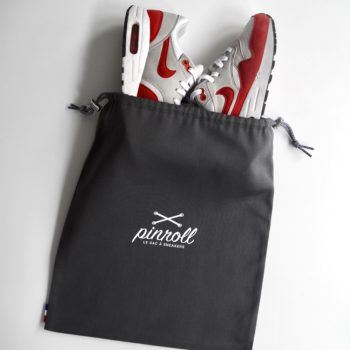 Pinroll sac à sneakers baskets - gris avec cordon de fermeture -Nike Air Max One Red