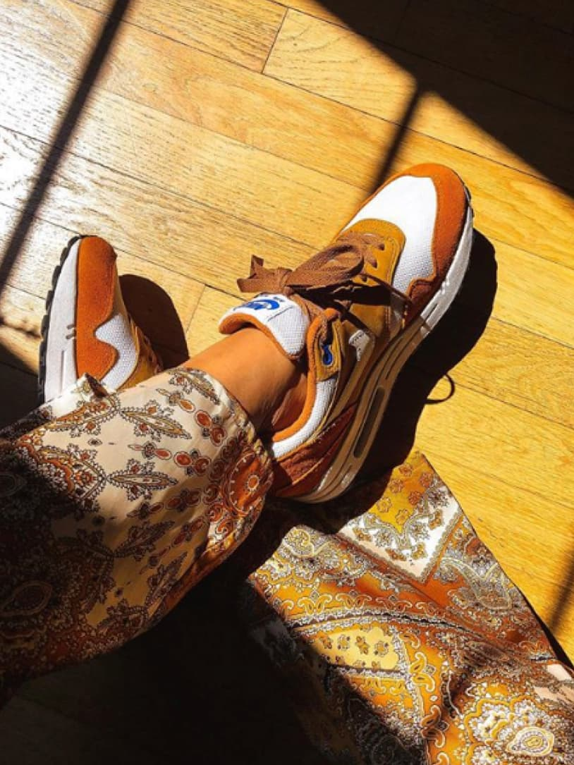 Lacets plats marron - Nike Air Max Curry