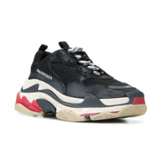 5 raisons de succomber aux dad shoes - Pinroll lacets baskets sneakers - Balenciaga triple S