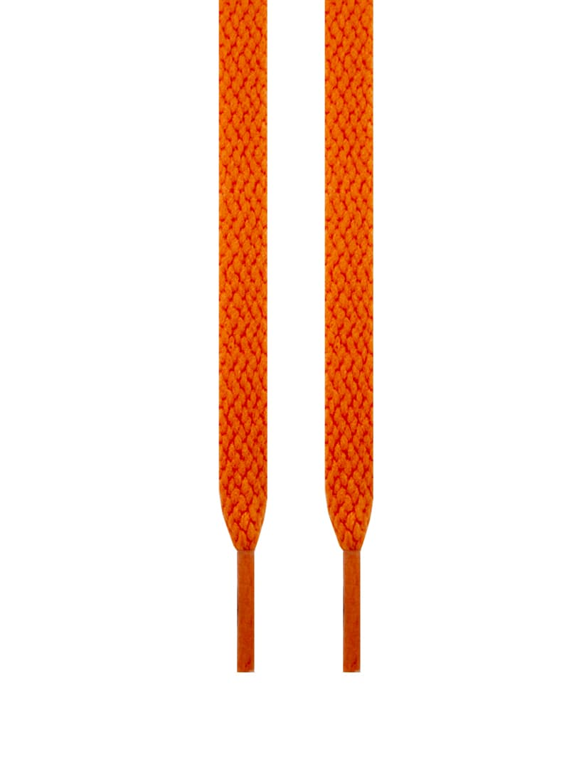 Lacets plats orange vintage